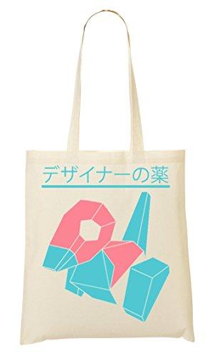C+P Porygon Japan Symbols Tragetasche Einkaufstasche