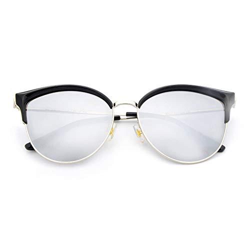 Douerye Anti-UV400 Vollbild Cat-Edge Polarisierte Sonnenbrille, Damen Lässig, Shopping-Augenschutz-Sonnenbrille,Silver