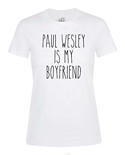 Paul Wesley Damen T-Shirt mit klassischem Print-Design Top-T-Shirt XX-Large