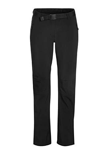 maier sports Damen Softshellhose Tech Pants W, Schwarz, 17