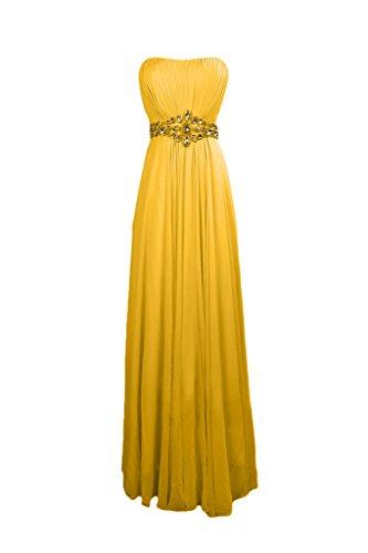 Sunvary elegante Chiffon A-line lega, per abiti da sera o da cerimonia, con diamanti Giallo