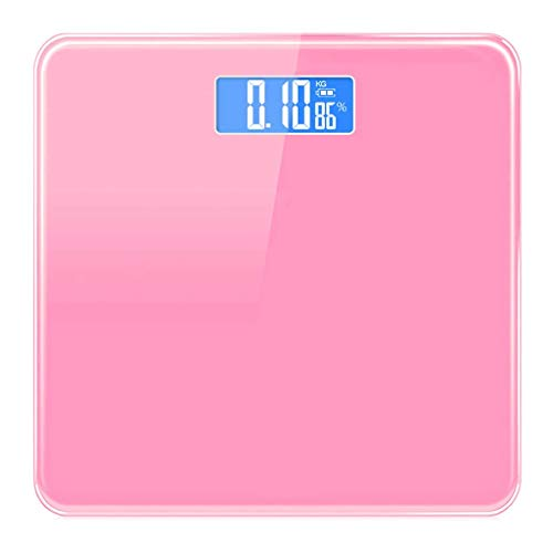 Color: Púrpura, blanco, rosa  Unidad de peso: kg   Peso mínimo: 0.1 kg   Batería: 2 7a batería  Dimensión: 280 * 280 * 20 mm   Rango de medición 0.1kg-180kg   Modo de carga: carga USB   Material: vidrio templado, ABS   Consejos: 1.La báscula no admi...