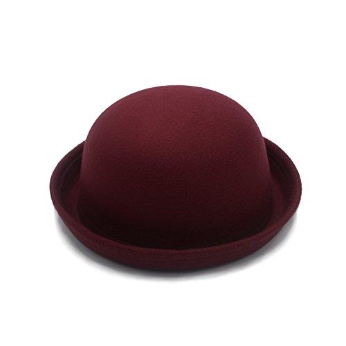 JEEDA Vintage Style Frauen Woolen Roll-up Krempe Fedora Bowler Hat