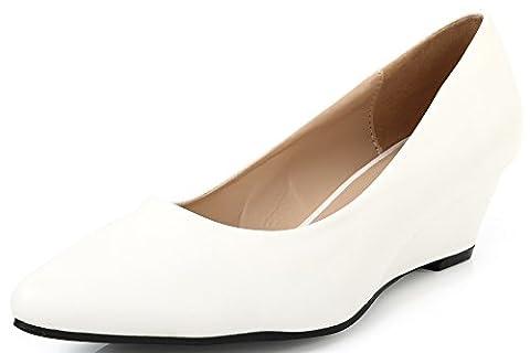 AgeeMi Shoes Femmes Compensé Escarpins Talon Slip on Classique Chaussures,EuD22
