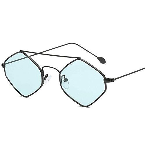 onnenbrillen Fashion Metal Double Beam kleinen Rahmen Sonnenbrillen Männer und Frauen dekorative Street Shot Gläser (Color : A) ()