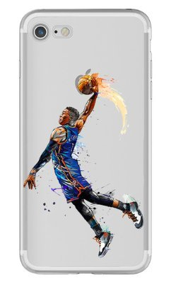 Art Design Hülle für iPhone 6 / iPhone 6S Russell Westbrook Oklahoma City 0 OKC Basketball NBA Transparante Soft Silikon
