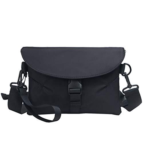 Linkay Damen Tasche, Handtasche Neuer HeißEr Verkauf Wild Neutrale Persönlichkeit Vielseitig UmhäNgetasche Rucksack Mode 2019-Schwarz -