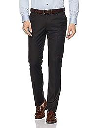 Cliths Slim Fit Black Formal Trouser for Men| Black Formal Pants for Men