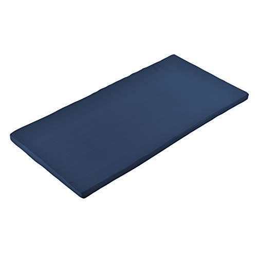 [Neu.Haus] Cojín para Muebles Almohadilla de Banco con Funda Almohada de Asiento 100 x 48 x 4 cm Azul...