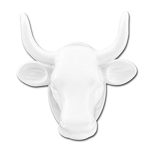 LeuchtKeramik Magnet Kuh-Kopf weiß Kühlschrankmagnet Köthen Kuhparade KOS501W - Kuh-magnet