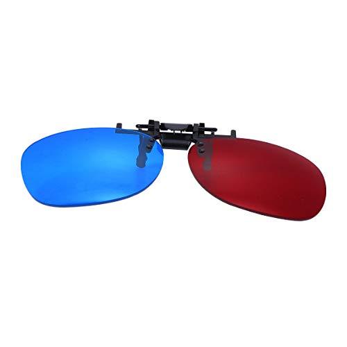 Healifty 3D-Brille cyan Brillenfarbe rot/anblendblau für 3D Film TV Cinema Computer (Senza Glasrahmen)