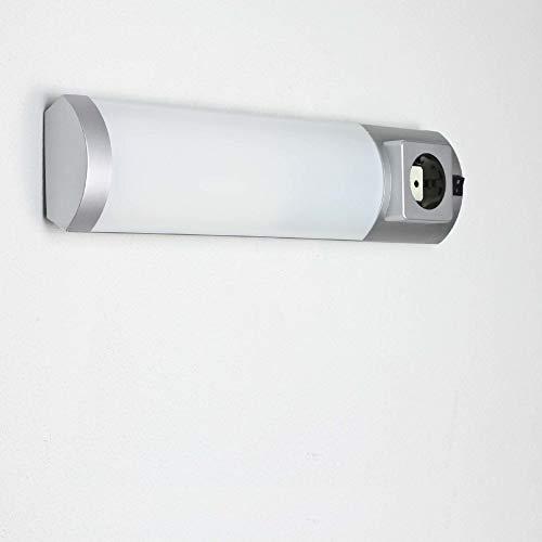 Unterbauleuchte mit Steckdose Schalter Wandleuchte Badezimmer Küche Beleuchtung