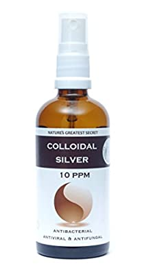 Premium Quality Colloidal Silver 10ppm Spray 100ml by Optimised Energetics