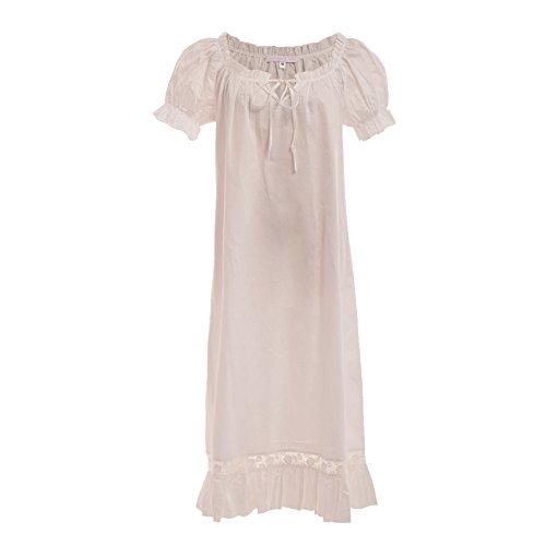 GRACEART Viktorianisches Mittelalterliches Chemise Kleid (Large)