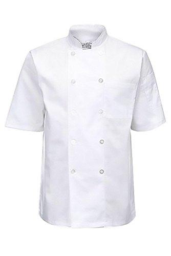 Kostüm Chef Männlichen - Kurzer Hülle Weißer Chef Jacke Yarmo JK7001