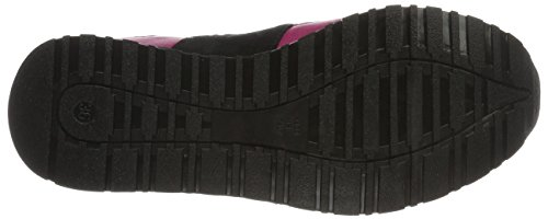 Love Moschino, Sneakers Basses Femme Noir (Fuchsia)