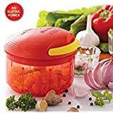 Domnic&Dennis 3 In 1 Non Electric Fruit And Vegetable Chopper, Juicer And Blender, Manual Operation