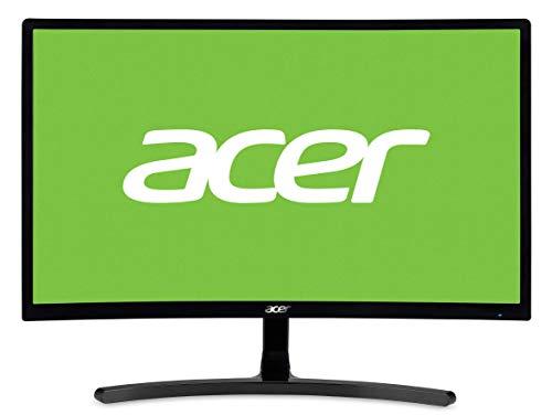 Acer ED242QRAbidp 60 cm (23,6 Zoll) Multimedia Curved Monitor (Full HD, 1.920 x 1.080, 144hz, 4ms Reaktionszeit, ZeroFrame, DVI, HDMI, Display Port, Audio Out) schwarz -