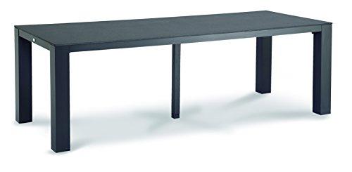 BEST Alu-Tisch Livorno, anthrazit, 90 x 230 x 74.50 cm, 46792350
