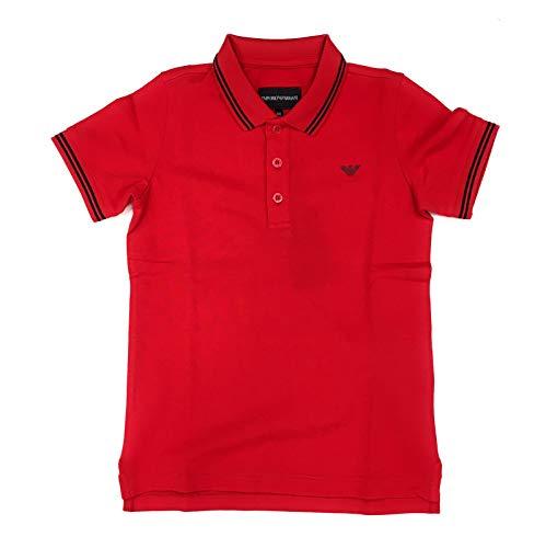 Armani Jeans Jungen Poloshirt, Rot 12 Jahre