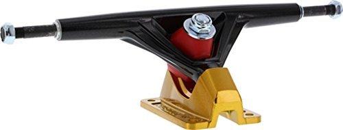 Seismic Aeon 30 Degrees 180mm Hi Black / Gold Longboard Trucks - 9.75 Axle (Set of 2) by Seismic Skate Systems -