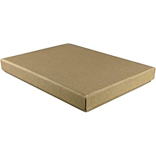 10 x Natural Brown Shallow A6 Gift Box, 165 x 116 x 17mm, Brown Rigid Gift / Presentation Boxes