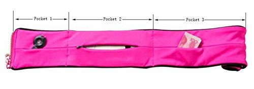 OOFWY Cintura di esecuzione della cintura, Lightweight Outdoor Sport Fanny Pack borsa a sacco della vita D