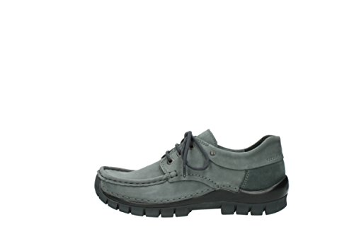 Wolky Lace-up Shoes 4726 Fly Winter 50200 In Pelle Nabuk Ingrassata Grigia