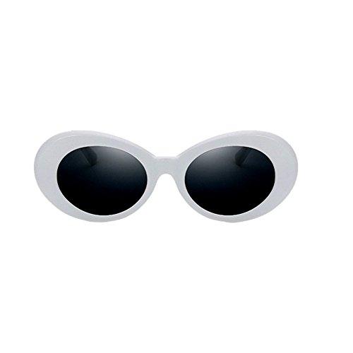 Meijunter Sonnenbrille Mann Frauen Retro Art-runde Gläser Ovale Sonnenbrille UV400