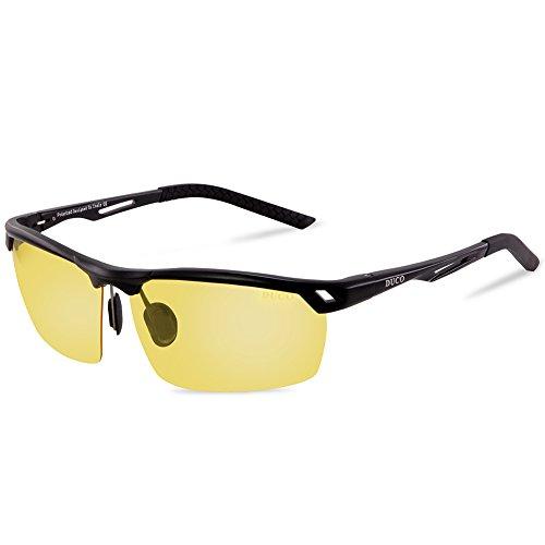 Duco Nachtsichtbrille Anti-Glanz Fahren Brillen Kontrast-Brille Nachtfahrbrille polarisierte 8550 (Schwarz)