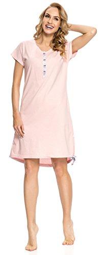 3e1c3576387512 DN nightwear Donna Camicia Da Notte per allattare TM.9010 Sweet Pink ...