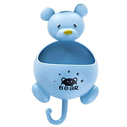 Ivo Ryan Badezimmer Duschseifendose (kein Bohren) Duschregal Seife Ablagekorb Klebstoff Absaugung Eckregale Dusche (Blau)