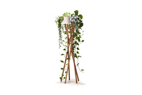 URBANATURE Blumenständer HOCHGARTEN Beton - Weiss - Übertöpfe mit Selbstbewässerung