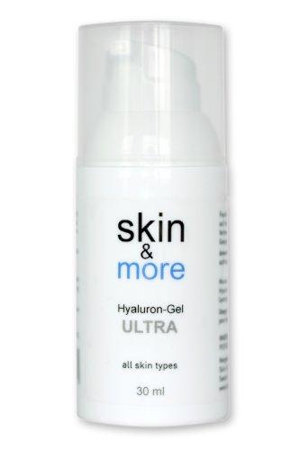 Hyaluron-Gel Skin&More Proseries Ultra 30 ml: Hyaloronsäure Konzentrat für die intensive Anti-Aging Gesichts-Pflege, Augen-Pflege und Haut-Pflege, Serum Hyaluronsäure (Gesicht Auge)