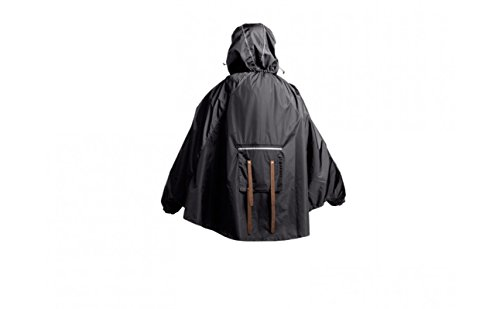 Brooks Erwachsene Regenpncho John Boultbee Cambridge Rain Cape Black