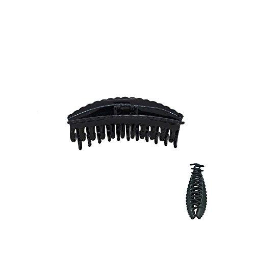 Pince Crabe A Cheveux - Plastique - Noire - Accessoire Coiffure