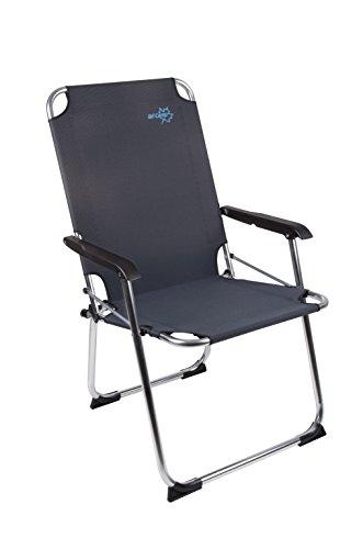 Preisvergleich Produktbild Bo Camp Copa Rio XL - Klapp-Stuhl Aluminium schwarz 51x58x96cm Belastbarkeit 110kg