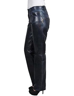 Lederhose Damen lang - Lederjeans Herren- Echt Leder, Lederhose Jeans 501 Blau- Motorrad Lederjeans- Fuente Moderne...