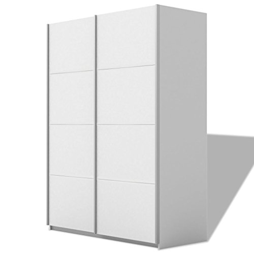 vidaXL Kleiderschrank 2 Schwebetüren Schwebetürenschrank Schlafzimmer Matt 150cm