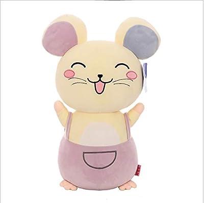 WHKJ Cute Smile Mouse Felpa Juguete Mascota muñeca niño Dormir aplacar muñeca sofá Almohada Suave cojín decoración del hogar Adornos niño niña 60 cm por WHKJ