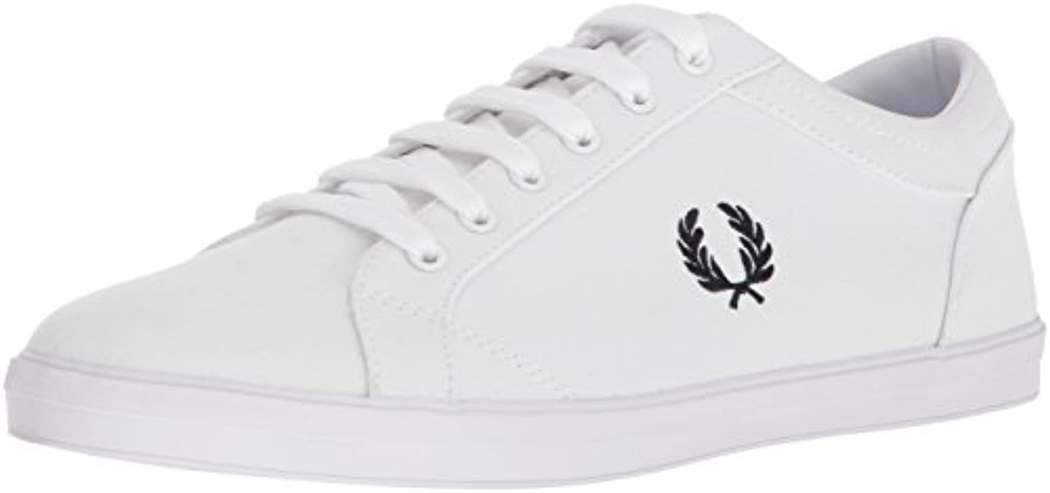 Fred Perry Baseline Canvas White B3114100, Deportivas -