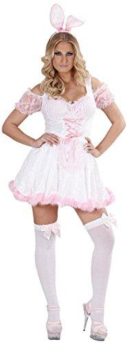 Kostüm Bunny Girl - Widmann 74681-Bunny Girl Kostüm Hasenkostüm weiß, in Größe S