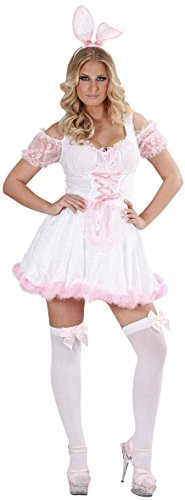 Widmann 74681-Bunny Girl Kostüm Hasenkostüm weiß, in Größe S