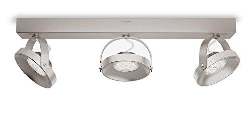 Philips myLiving LED Spot Spur 3-flammig Metall 4.5 W Edelstahl gebürstet 533131716
