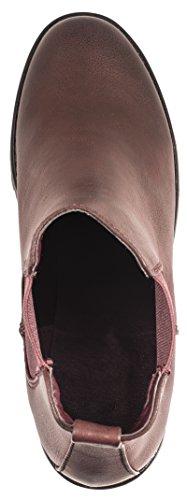Elara Chelsea Boots | Bequeme Damen Stiefeletten | Profilsohle Blockabsatz, , Wine Leder
