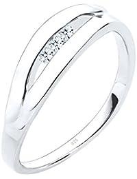 DIAMORE- Bagues- Femmes- Argent-  925/1000- Diamant- Blanc- 0.09 ct. - 0602221014