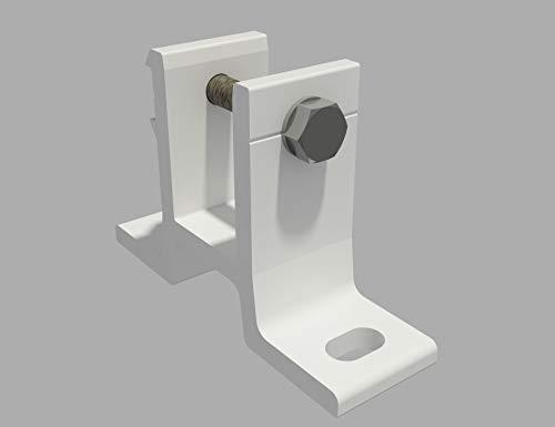 Home & Trends Wandhalterung 2er-Set mit Befestigung für Markise 40 mm SPD058 aus ALU TÜV geprüft in Weiß (2 Stücke) -