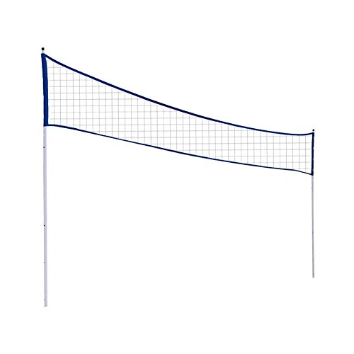 Tragbares Volleyball-Netz, das justierbares Volleyball-Badminton-Tennis-Netz mit Stand-Pole für Strand-Gras-Park-Schauplätze im Freien faltet