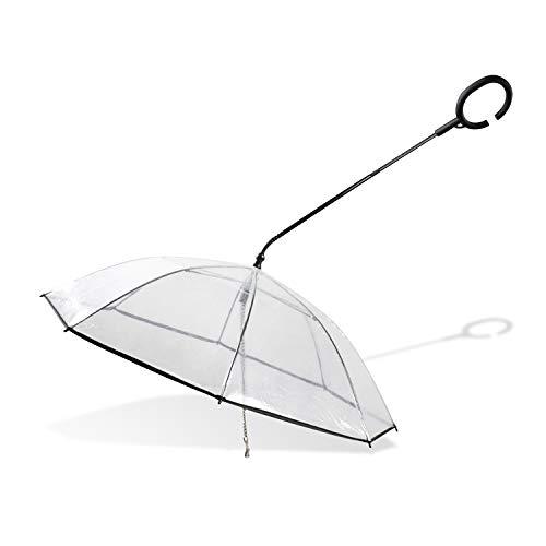 Petcute ombrello guinzaglio per cani animali domestici impermeabile trasparente con guinzaglio per cani