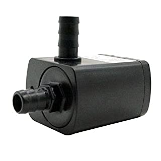 12V DC Water Pump 60GPH Inlet&Outlet 1/4 Inches 8mm Static Head 9.8ft Brushless Submersible Pump Aquarium Pump Cooling Pump DC30A-1230
